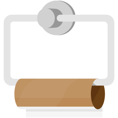 empty toilet paper roll illustration